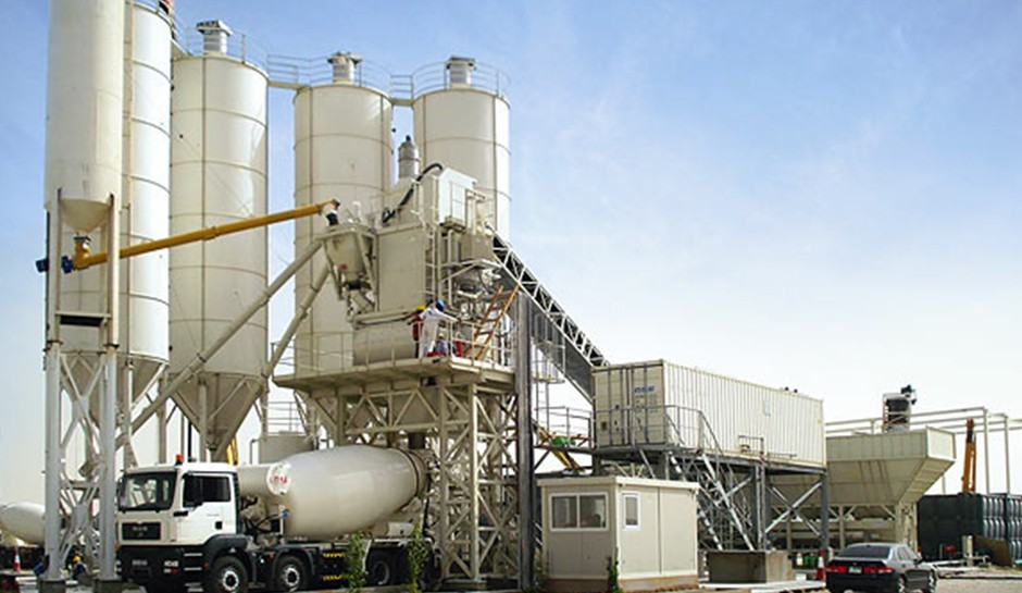 Concrete plant management program through the production management system