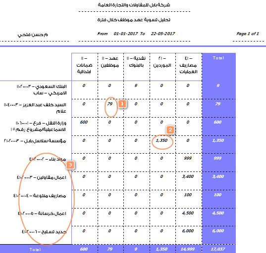 تحليل تفصيلي لتسوية عهدة م حسن فتحي